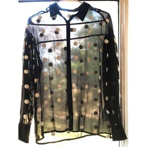 Sheer Dot Zara Blouse